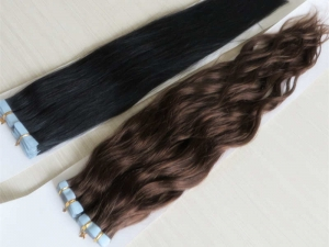 Tangle Free Brazilian Remy Human Hair, Tape Hair Extension
