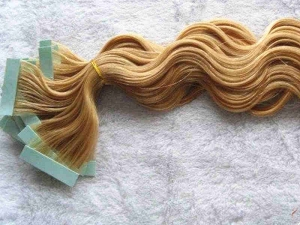 curly skin weft