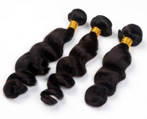 virgin remy hair curly,loose wave
